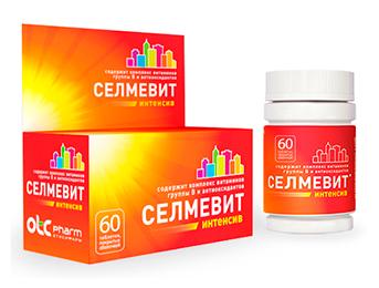 Селмевит Интенсив. Витаминно-минеральный комплекс на каждый день для жителей мегаполиса. Упаковка